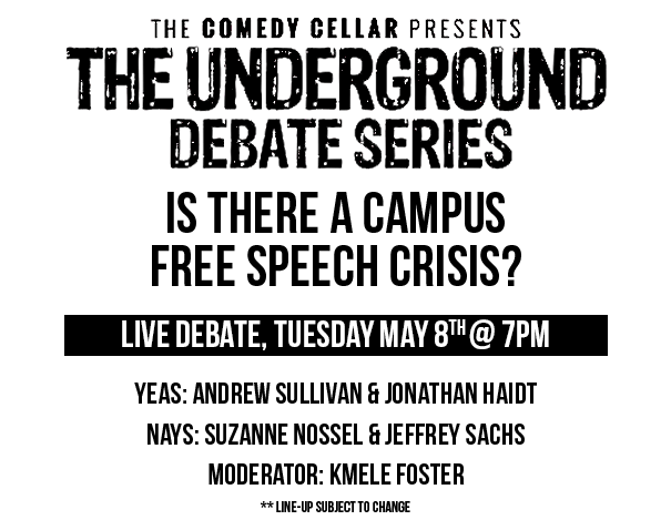 Live Debate - May 8th, 2018 at 7pm